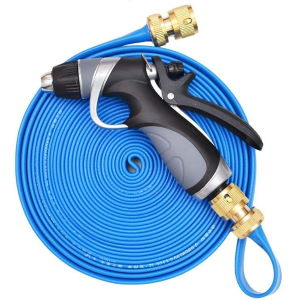 vetroo flat garden hose with nozzle